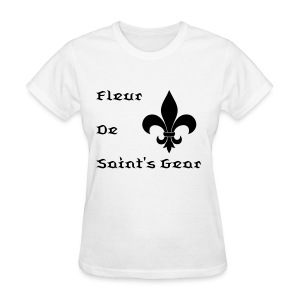 Women's Fleur De Saint's Gear-Black Text - Women's T-Shirt