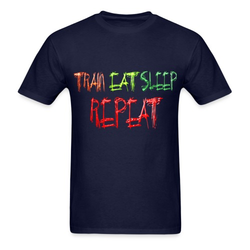 Train Eat Sleep Repeat Horizontal - Men's T-Shirt