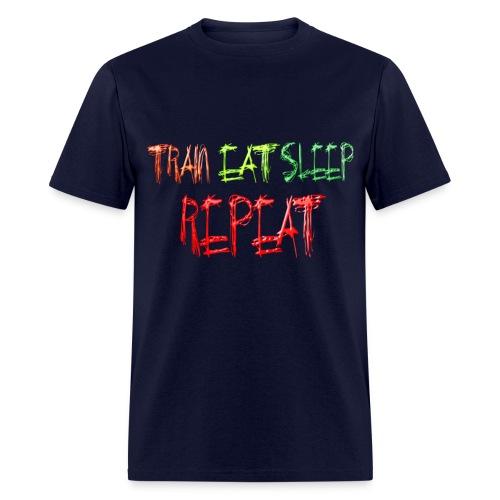 Train Eat Sleep Repeat Horizontal - Men's T-Shirt