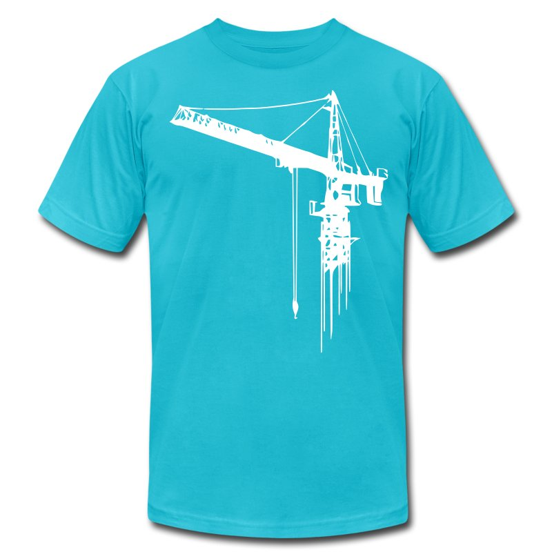 Tower crane 1 color t shirt spreadshirt for One color t shirt