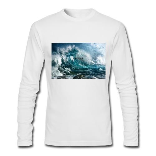 DREAM$ WAVY LONGSLEEVE TEE - Men's Long Sleeve T-Shirt by Next Level