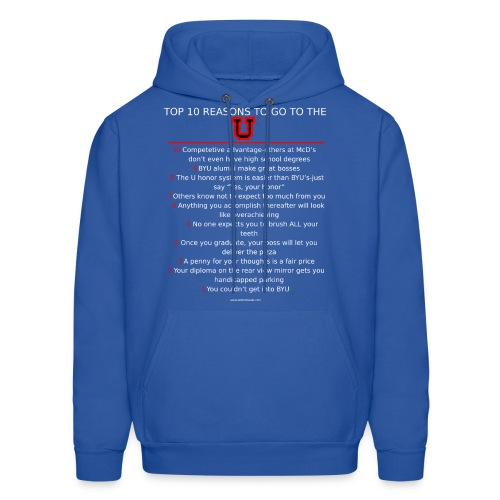 Mens sweatshirt Top 10 reasons to be a Ute - Men's Hoodie