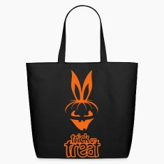 pumpkin rabbit trick or treat hare halloween bunny Bags & backpacks