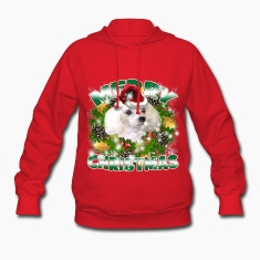 Merry Christmas Poodle Hoodies