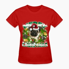 Merry Christmas Pug Women's T-Shirts