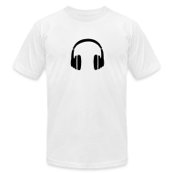 T-Shirts ~ Men's T-Shirt by American Apparel ~ DJ T-Shirt with Headphones