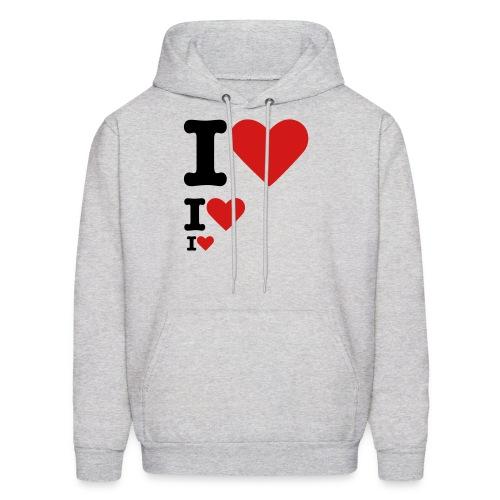 I ♥ I ♥ I ♥ Hoodie (Men) - Men's Hoodie