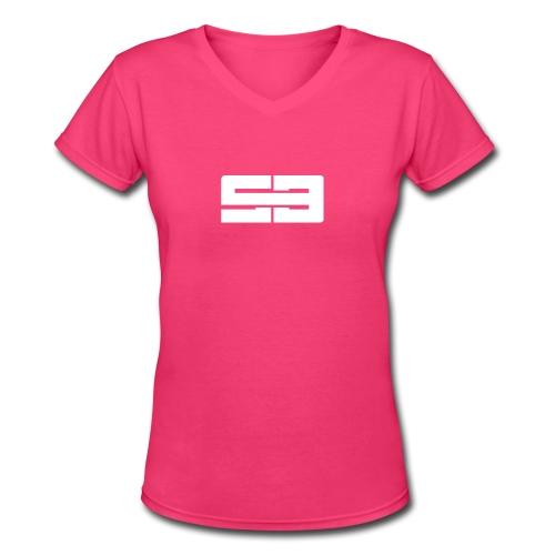 Women SB Logo V-Neck - Women's V-Neck T-Shirt