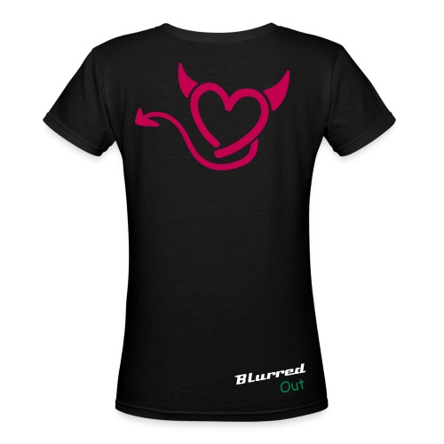 Blurred Out Womens Tee - Women's V-Neck T-Shirt