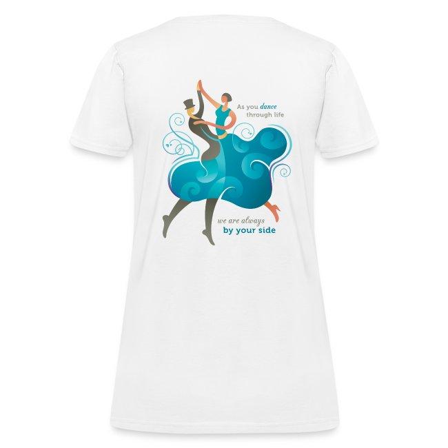 Women's Standard Weight T-shirt - Two Dancers