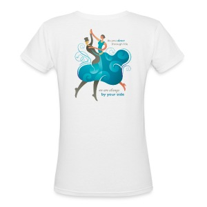 Women's V Neck T-shirt - Two Dancers - Women's V-Neck T-Shirt