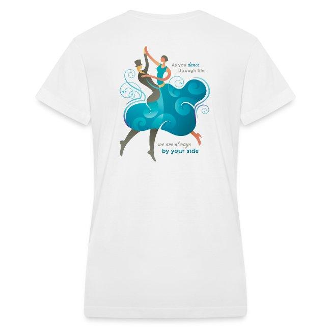 Women's V Neck T-shirt - Two Dancers