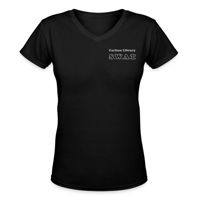Women's V-Neck Silver Glitz T SWAT