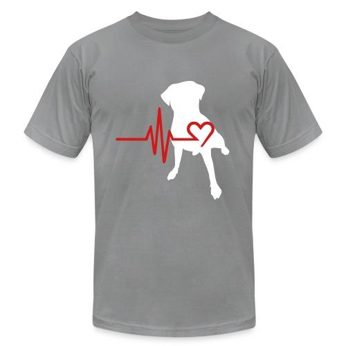 My heart beats for bully  breeds tee-dude - Men's Fine Jersey T-Shirt