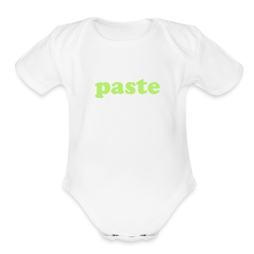 Copy & paste baby one piece: paste side - Organic Short Sleeve Baby Bodysuit