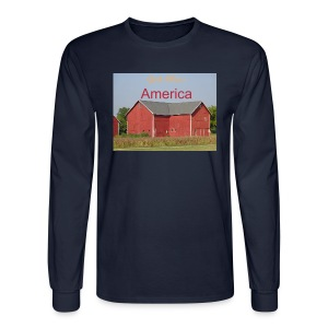 Men's long sleeved T-shirt  'God Bless America' - Men's Long Sleeve T-Shirt