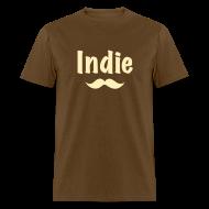 T-Shirts ~ Men's T-Shirt ~ Indie Stache (Men's)