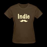 Women's T-Shirts ~ Women's T-Shirt ~ Indie Stache (Women's)