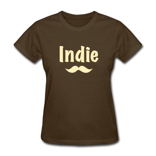 Indie Stache (Women's) - Women's T-Shirt