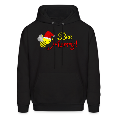 Bee Merry Christmas Holiday Bumblebee Santa Hat Hoodies