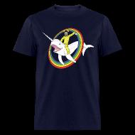 T-Shirts ~ Men's T-Shirt ~ Narwhal Rainbow Heisenberg