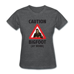 Caution: Bigfoot (Women's) - Women's T-Shirt