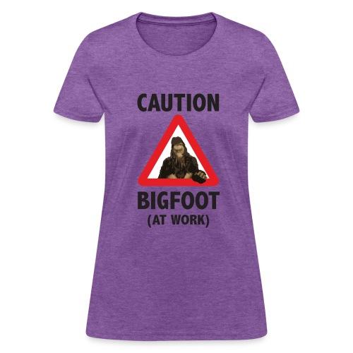 Caution: Bigfoot (Women's) - Women's T-Shirt