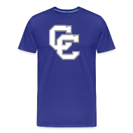 T-Shirts ~ Men's Premium T-Shirt ~ Connally Cadets CC | Go Big Blue and School Sign