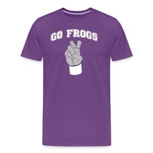 Go Frogs American Apparel shirt | Frogs hand sign shirt - Men's Premium T-Shirt