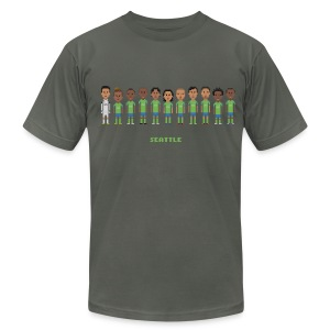 Men T-Shirt - Seattle Soccer (American Apparel) - Men's T-Shirt by American Apparel