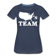 Women's T-Shirts ~ Women's Premium T-Shirt ~ America's Team woman's shirt
