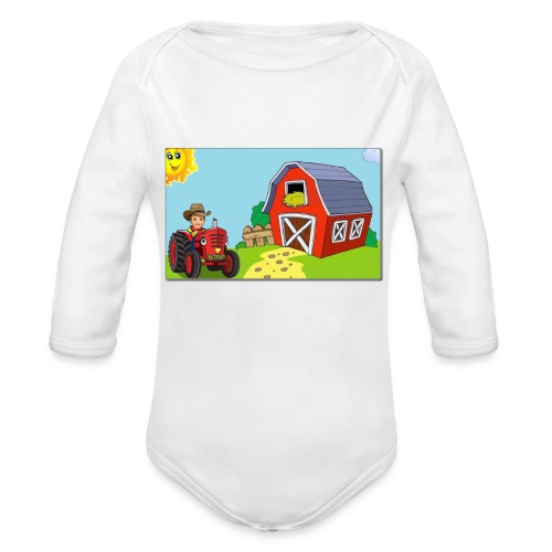 Onezie Picture - Organic Long Sleeve Baby Bodysuit