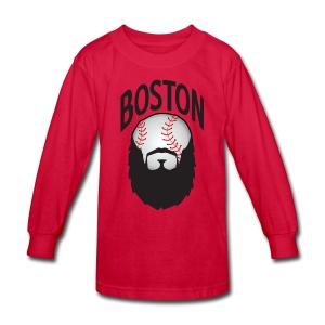 Boston Beards - Kids' Long Sleeve T-Shirt