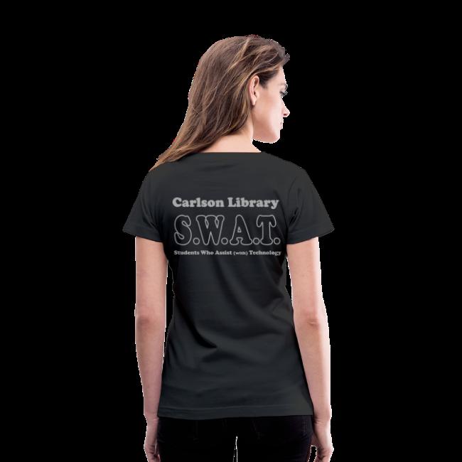 Women's V-Neck Silver Glitz T  SWAT w/name