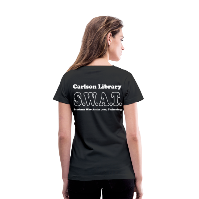 Women's V-Neck T CUP SWAT w/name