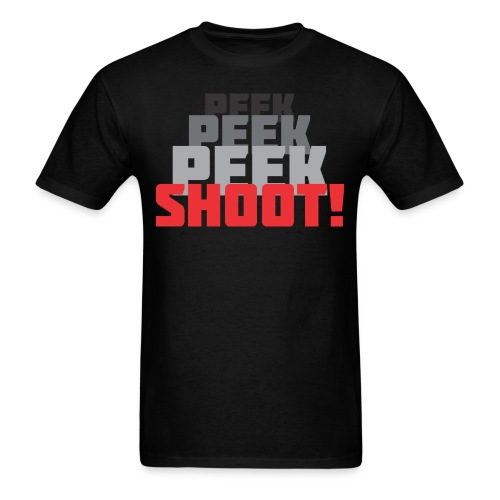 Peek and shoot normal weight T - Men's T-Shirt