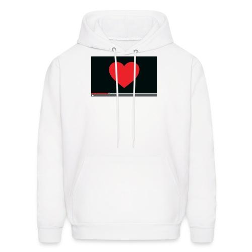 Heart Video Men's Hoodie - Men's Hoodie