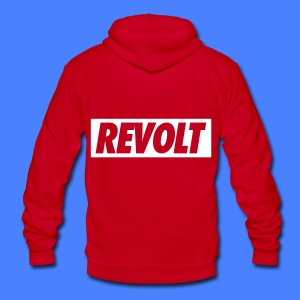REVOLT Zip Hoodies & Jackets - Unisex Fleece Zip Hoodie by American Apparel