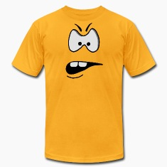 funny facial features: angry T-Shirts