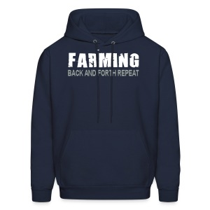 Farming - Back And Forth Repeat - Mens Hoodie - Men's Hoodie
