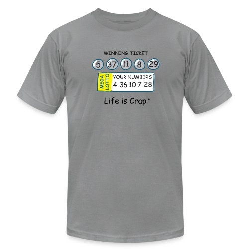 Lotto - Mens T-shirt by American Apparel - Men's  Jersey T-Shirt