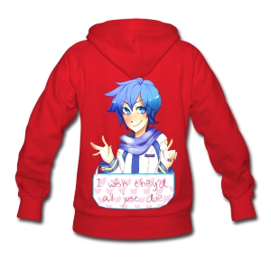 VOCALOID Kaito Song I Wish They Would All Just Die Hoodie - Women's Hoodie