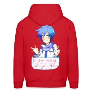 VOCALOID Kaito Song I Wish They Would All Just Die Hoodie - Men's Hoodie