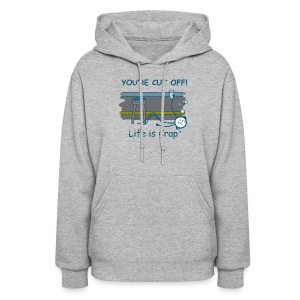 Cut Off - Womens Hooded Sweatshirt - Women's Hoodie