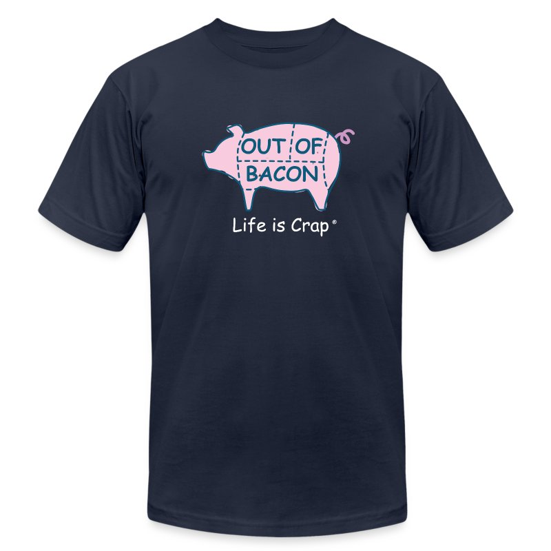Out of Bacon - Men's T-Shirt by American Apparel - Men's T-Shirt by American Apparel
