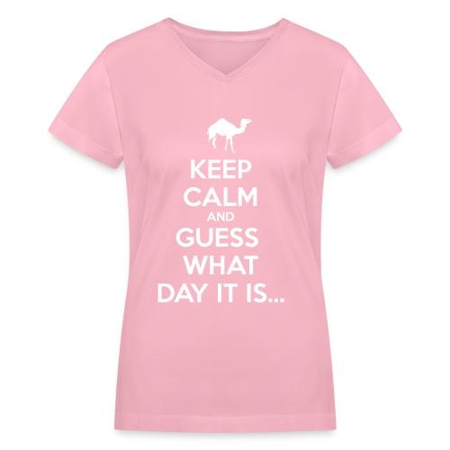 Hump Day Camel - Women's V-Neck T-Shirt