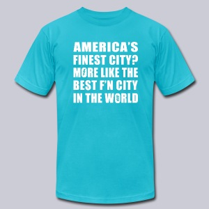 Best F'n City - Men's T-Shirt by American Apparel