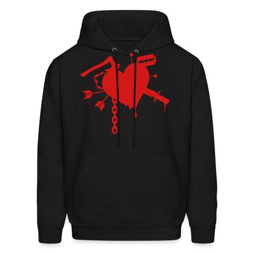 Damaged Heart Sweatshirt - Men's Hoodie