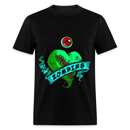 Zombies heart and eye shirt - Men's T-Shirt