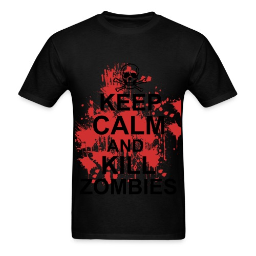 Keep Calm Zombie shirt - Men's T-Shirt